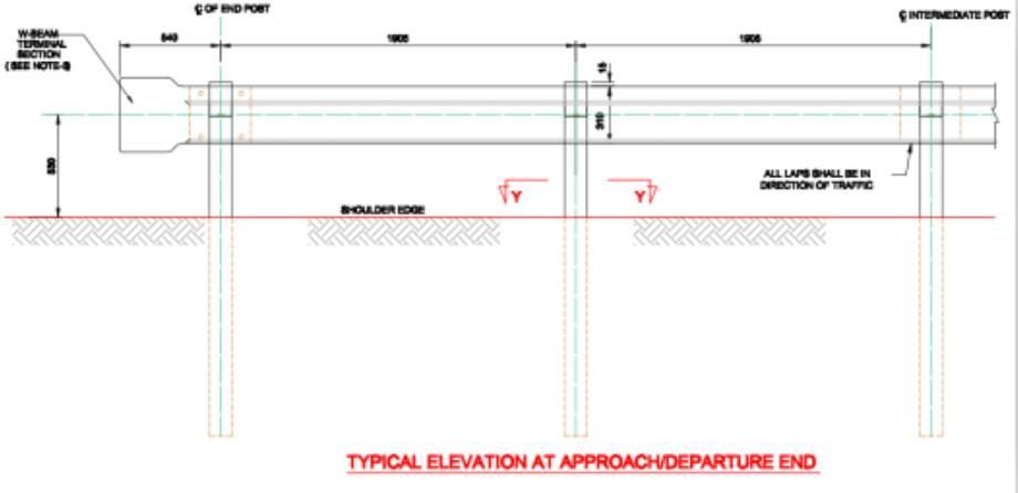highway guardrail detail dwg - Highway Guardrail Factory